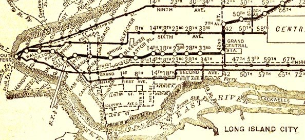Nyc Subway Map With Second Avenue.On This Day 1878 The First Elevated Trains Run In Nyc Tenement