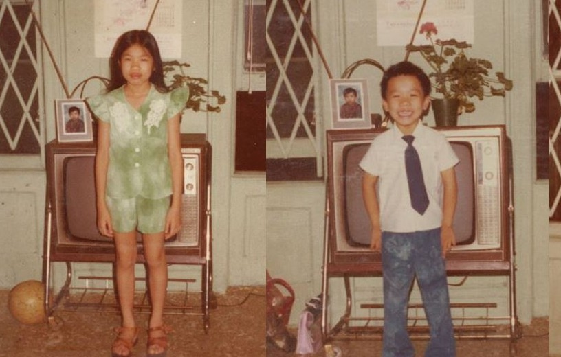 The Wong children at 103 Orchard.