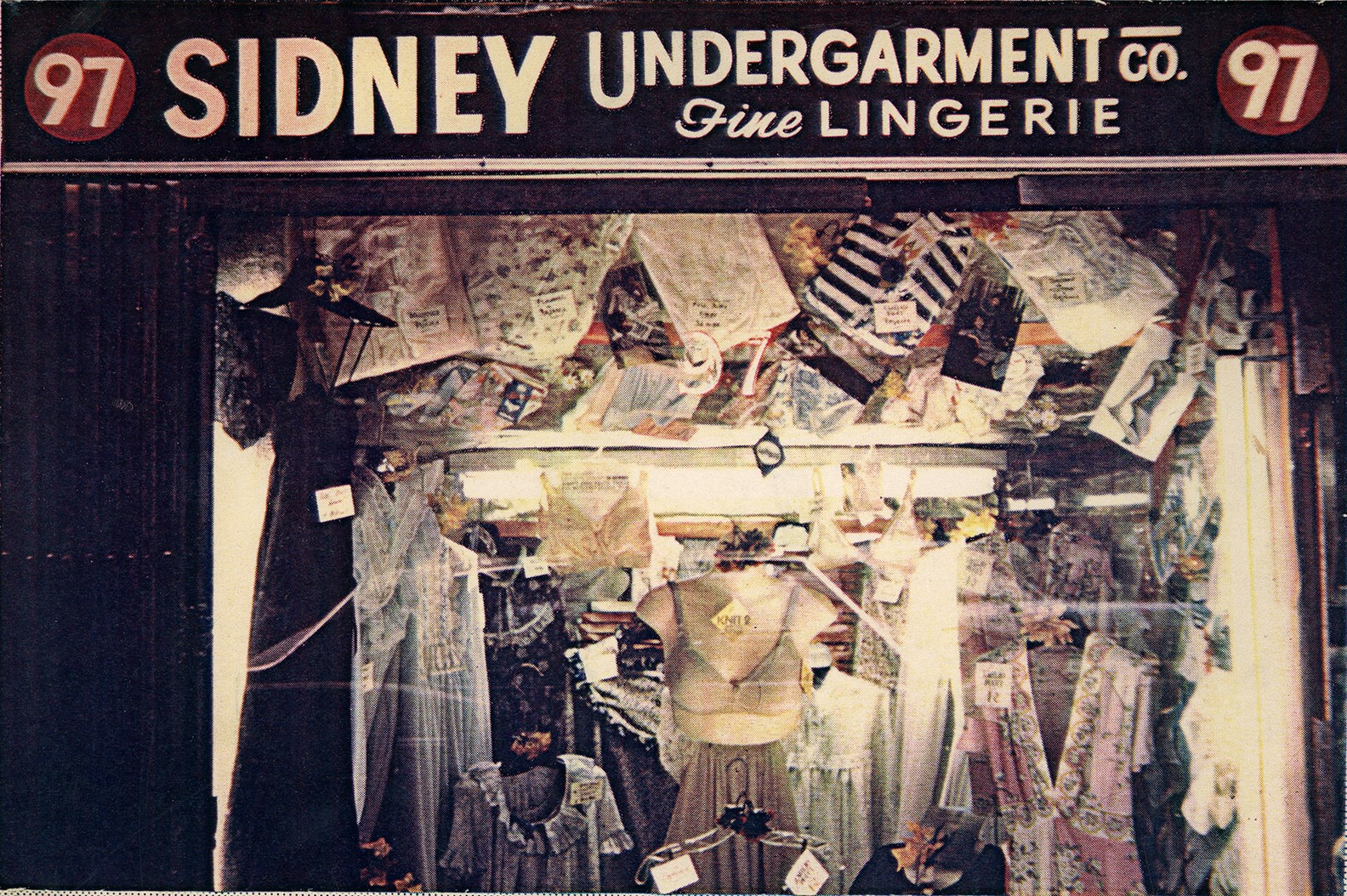 An exterior photo of the Sidney Undergarment Company storefront at 97 Orchard Street
