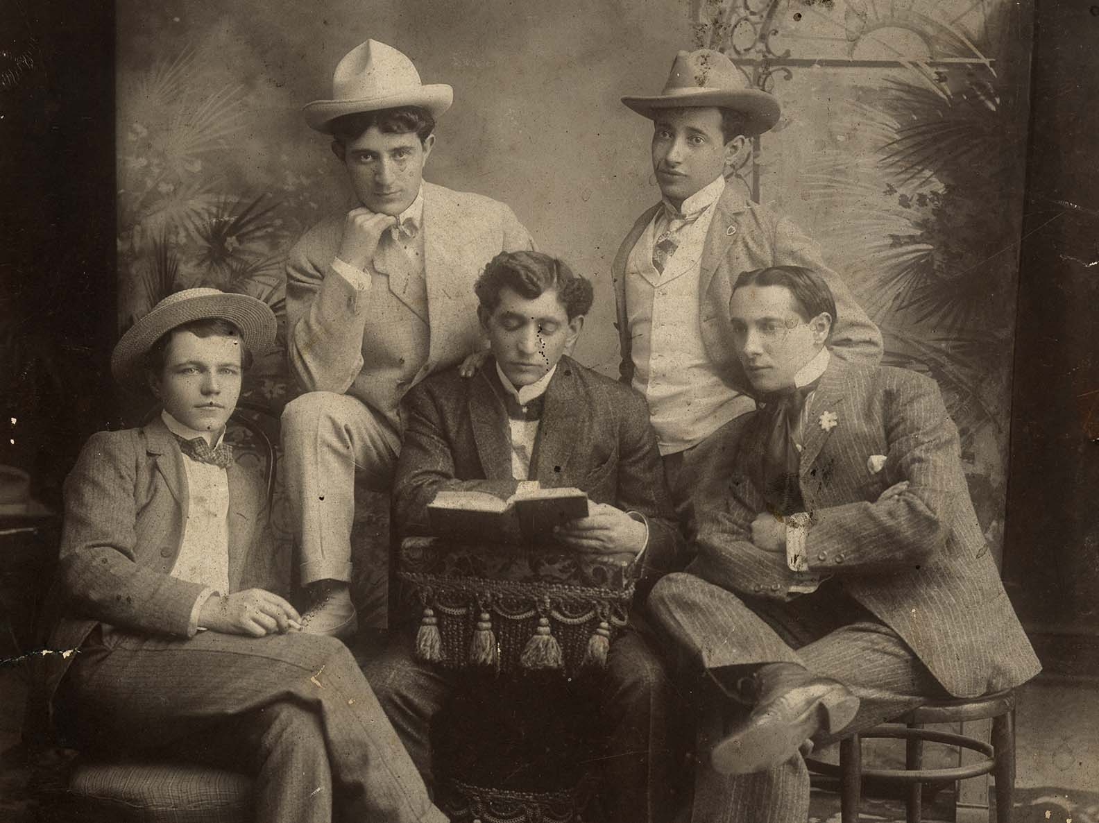 Former 97 Orchard resident Jacob Burinescu and his acting troupe circa 1915