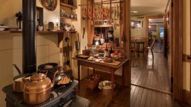 recreated 1870s kitchen inside 97 Orchard Street
