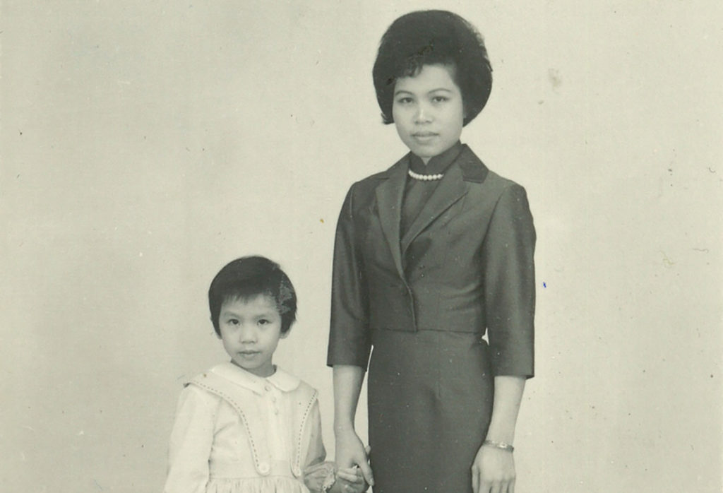Mrs. Wong and her daughter Yat Ping