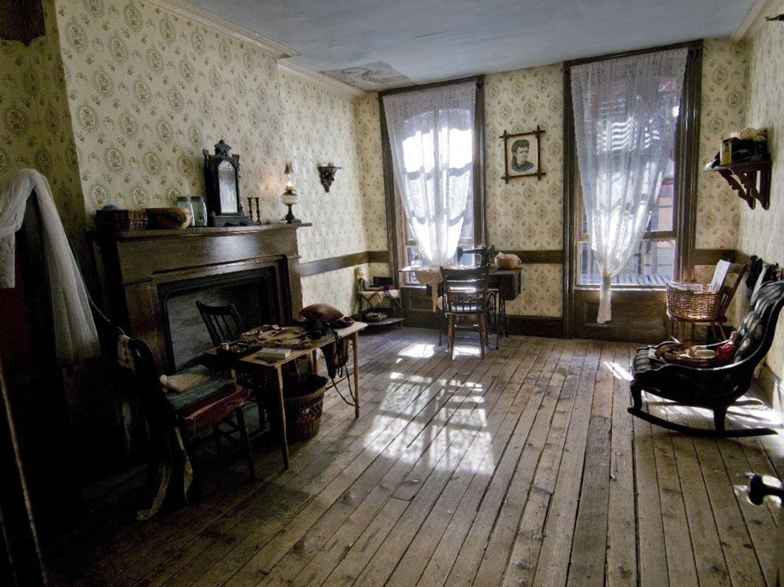 Recreated Gumpertz family parlor inside 97 Orchard Street