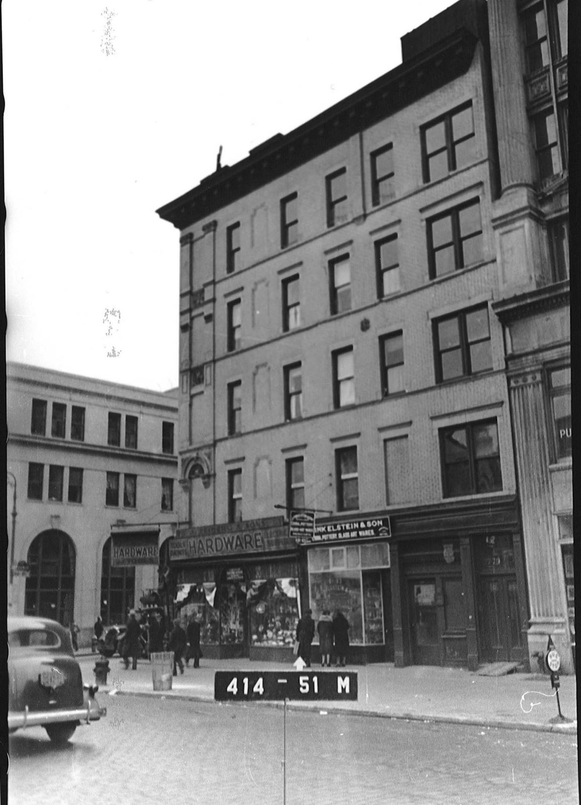 Exterior photo of 103 Orchard Street in 1940.
