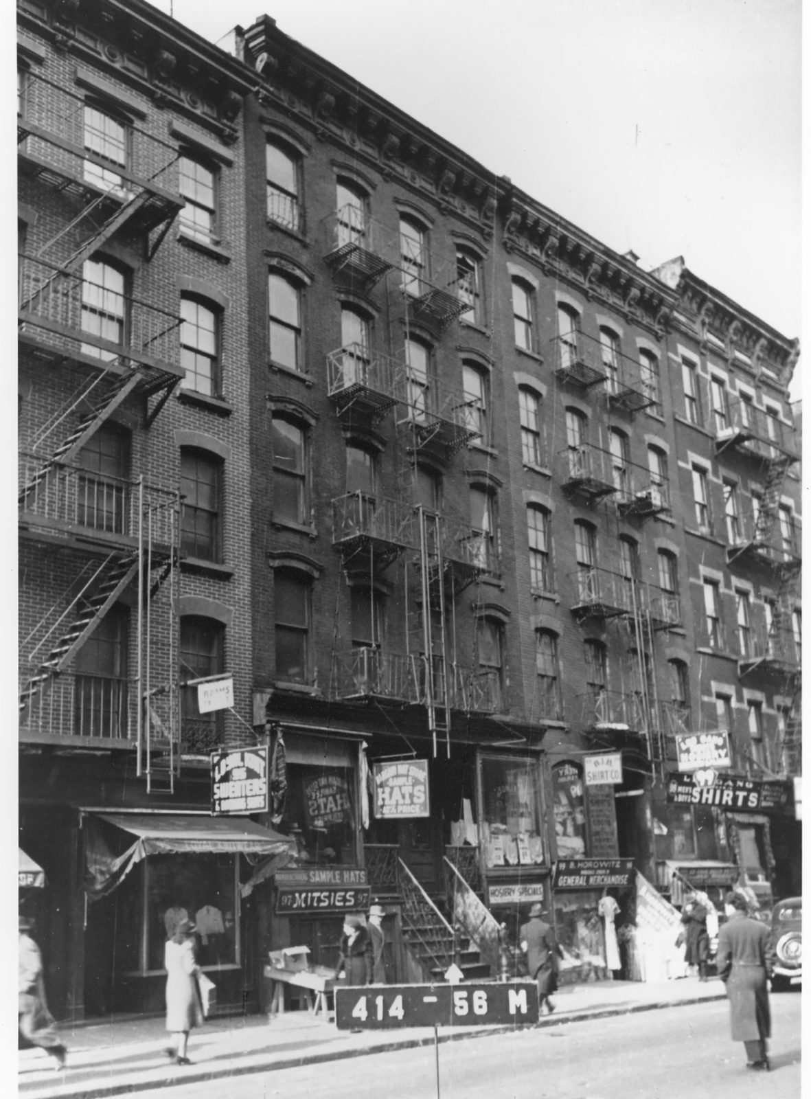 Exterior of 97 Orchard Street in 1940.