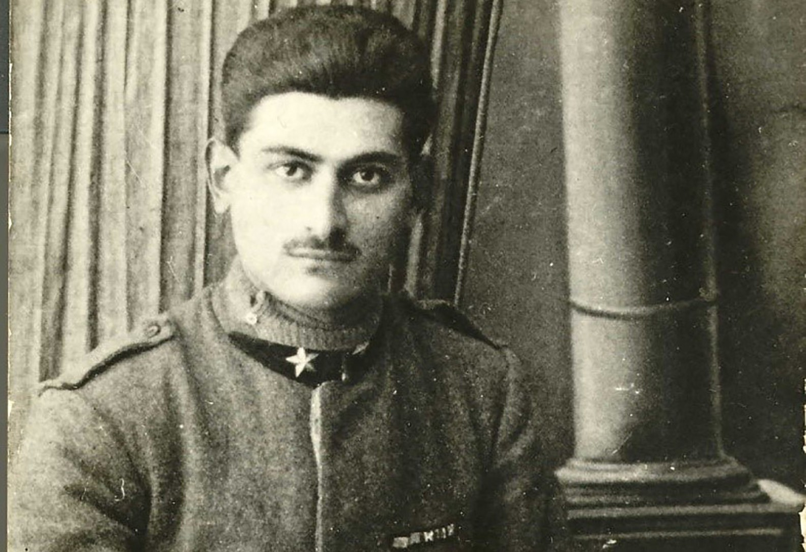 Photograph from 1918 of a young Adolfo Baldizzi in his World War I Uniform.