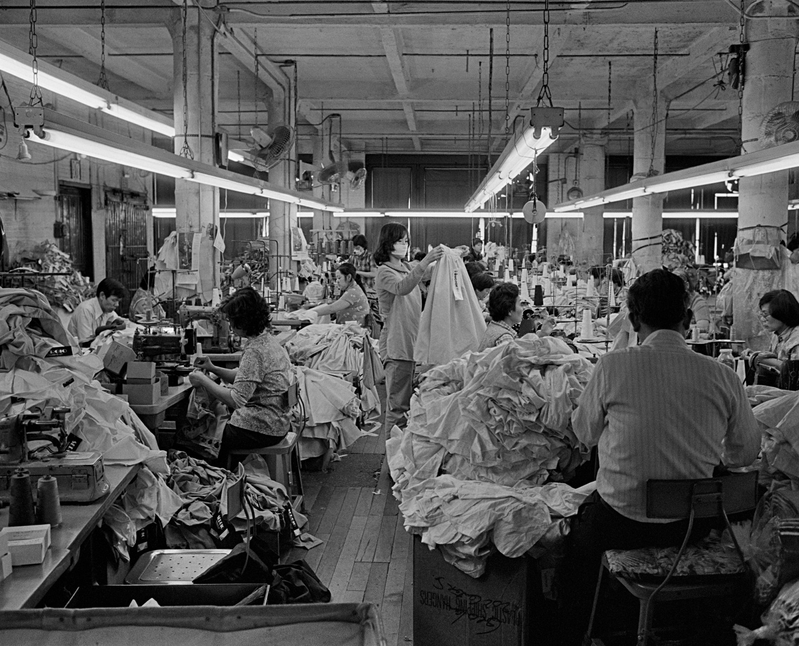 Chinatown garment factory in the 1980s.