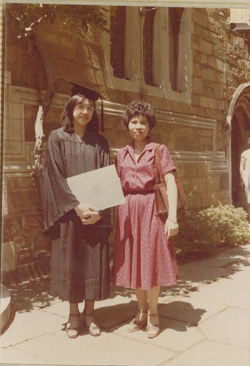 Mrs. Wong and daughter Yat Ping at her graduation.