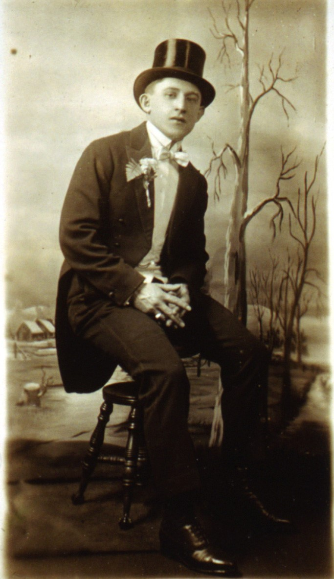 Image of Morris on the day of his marriage to Evelyn, January 21 1921, TM Collection