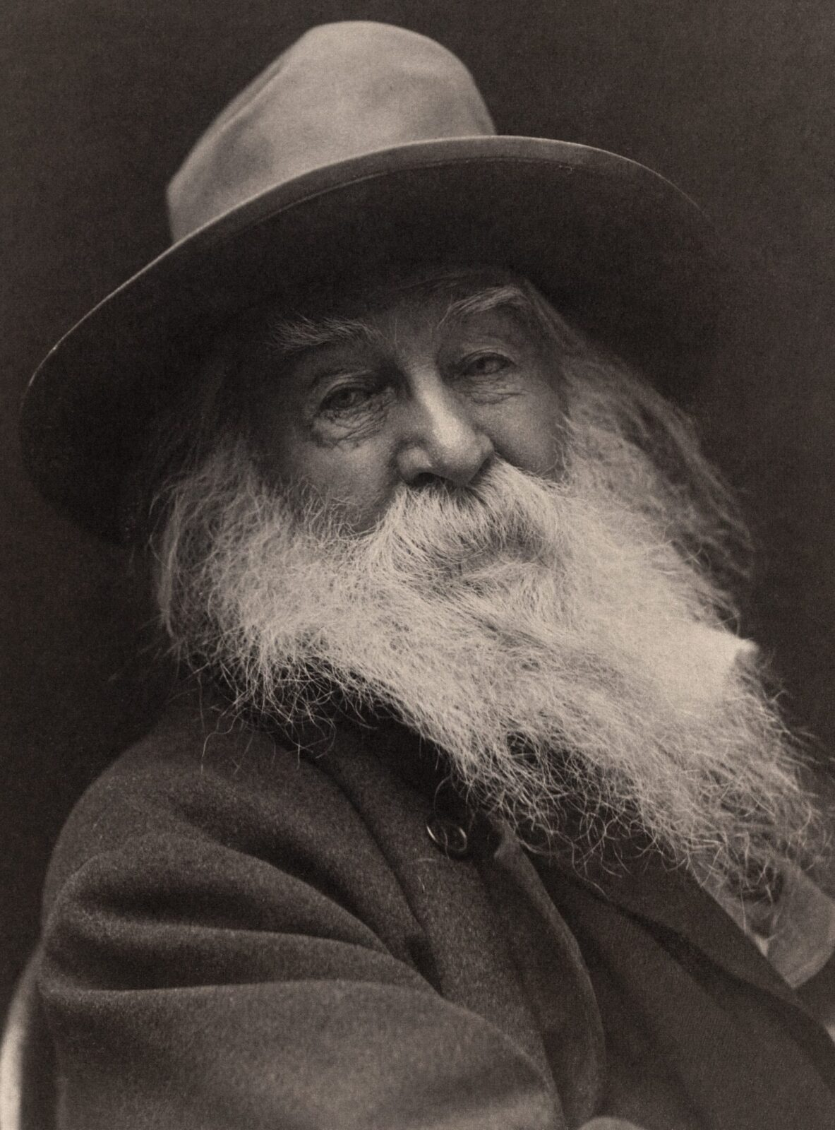 portrait of Walt Whitman by George Collins Cox