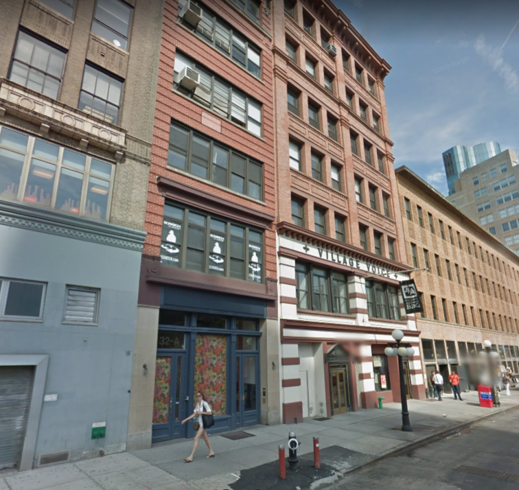 The former site of Paresis Hall at 392 Bowery, now 32 Cooper Square