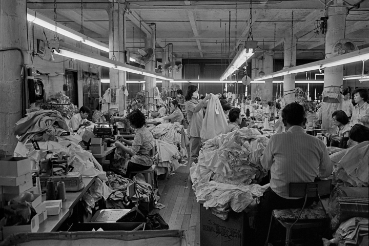 Garment factory in NYC's Chinatown. Photo: Bud Glick