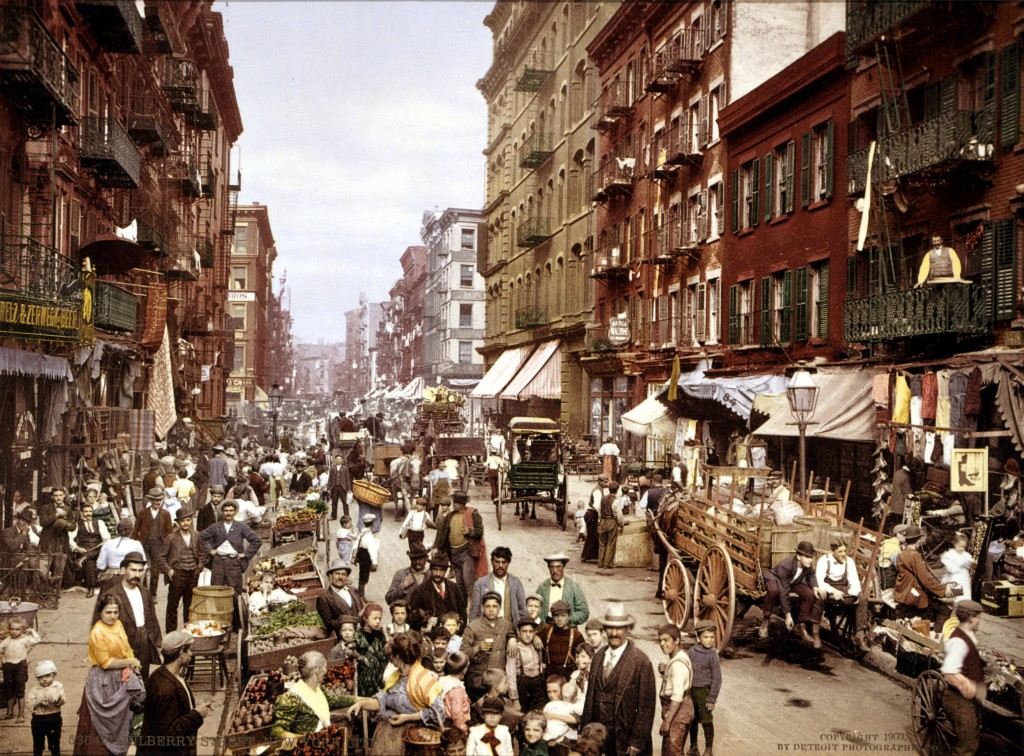Mulberry Street, c 1900, the center of Manhattan's Little Italy.