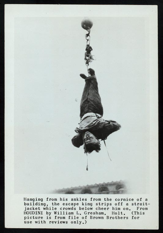 One of Houdini's most famous escapes. Photo courtesy of the NYPL.