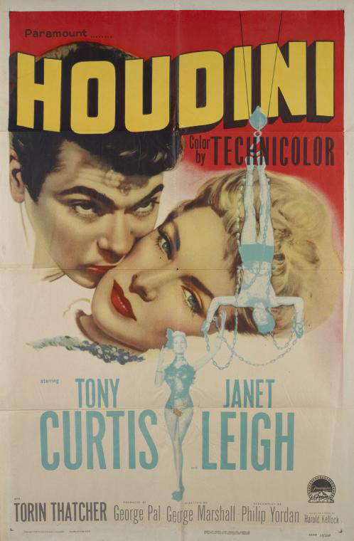 A star in his own right, Houdini would later be the subject of many biographies and films. Image courtesy of the NYPL.