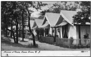 Tents in Ocean Grove, New Jersey, at the turn of the 20th century