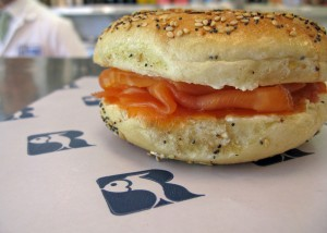 A RUSS & DAUGHTER'S FAMOUS LOX BAGEL