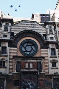 A former Jewish synagogue, coverted into an artist studio on Rivington St